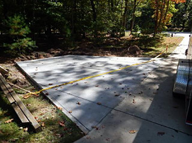 New driveway pad.
