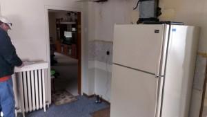 Range wall cabinets gone.