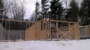 Lower Level bearing walls in place and ready for the floor trusses.