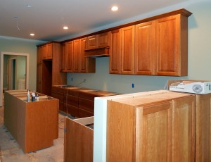 Kitchen cabinets all installed.