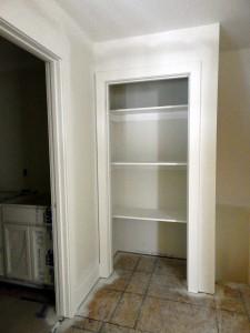 Closet shelving installed.