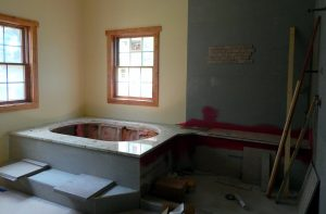 Granite Master tub deck and shower seat.