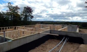 Started framing Lower Level walls this week. Nobody is complaining about the view!
